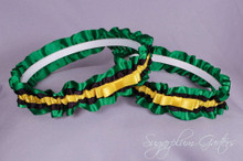 Jamaican Wedding Garter Set with Tailored Bows