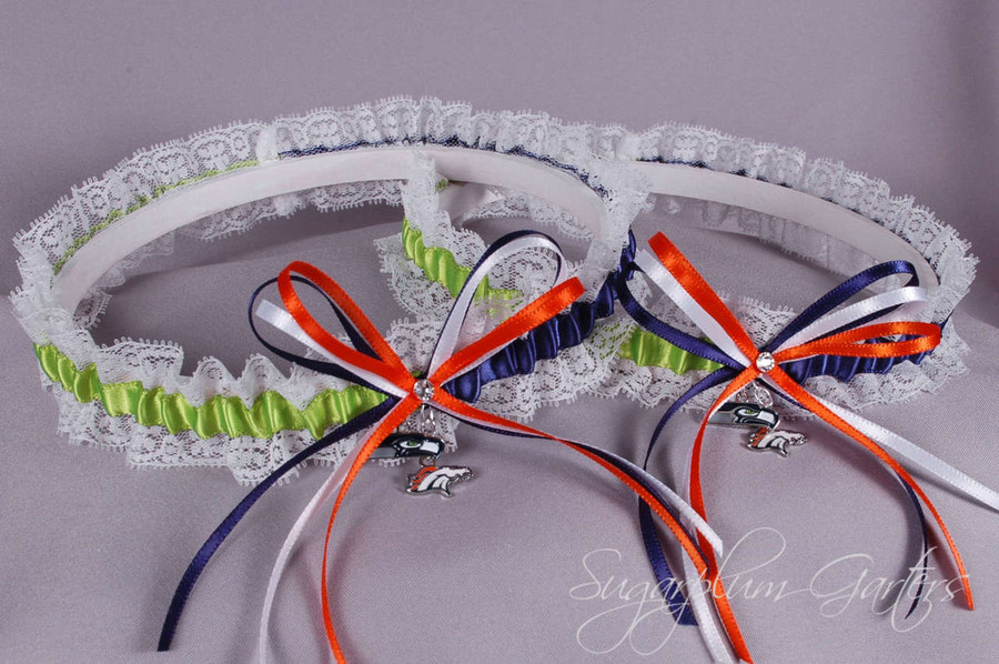 Los Angeles Chargers Lace Wedding Garter Set