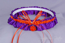 Clemson University Tigers Wedding Garter