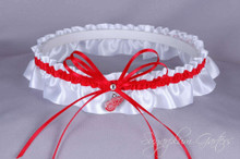 Detroit Red Wings Wedding Garter