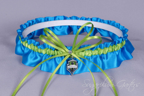 Seattle Sounders Wedding Garter