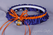 University of Illinois Fighting Illini Wedding Garter