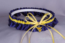 West Virginia University Mountaineers Wedding Garter