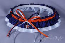 Houston Astros Classic Wedding Garter