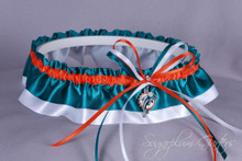 Miami Dolphins Classic Wedding Garter