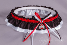 Ohio State University Buckeyes Classic Wedding Garter
