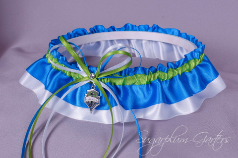 Seattle Sounders Classic Wedding Garter