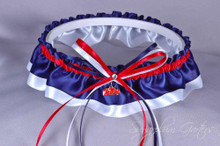 University of Mississippi Ole Miss Rebels Classic Wedding Garter
