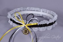 Boston Bruins Lace Wedding Garter