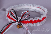 Chicago Blackhawks Lace Wedding Garter