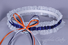 Denver Broncos Lace Wedding Garter