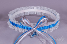 Detroit Lions Lace Wedding Garter