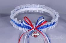 Detroit Pistons Lace Wedding Garter