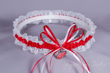 Detroit Red Wings Lace Wedding Garter
