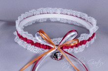 Florida State University Seminoles Lace Wedding Garter
