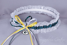 Green Bay Packers Lace Wedding Garter