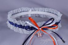 Houston Astros Lace Wedding Garter