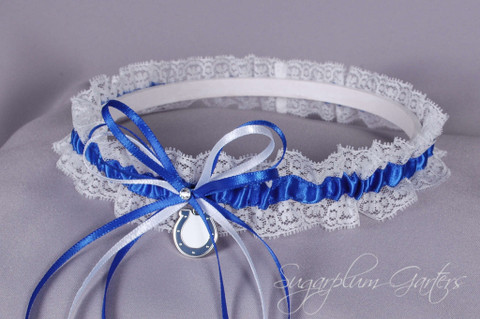 Indianapolis Colts Lace Wedding Garter