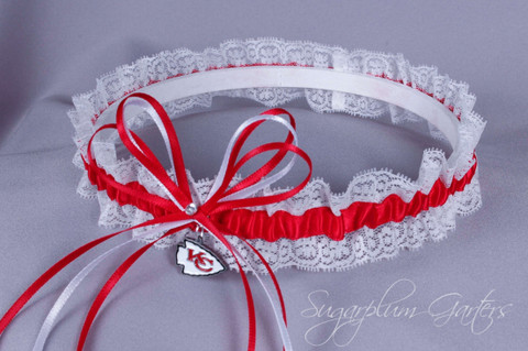 Kansas City Chiefs Lace Wedding Garter