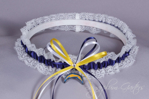 Los Angeles Chargers Lace Wedding Garter