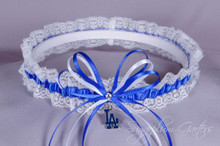 Los Angeles Dodgers Lace Wedding Garter