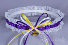 Los Angeles Lakers Lace Wedding Garter
