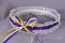 Louisiana State University Tigers Lace Wedding Garter