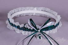 Michigan State University Spartans Lace Wedding Garter