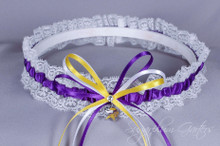 Minnesota Vikings Lace Wedding Garter
