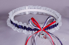 New England Patriots Lace Wedding Garter