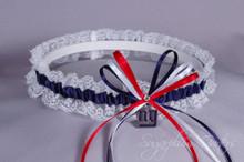 New York Giants Lace Wedding Garter