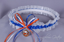 New York Islanders Lace Wedding Garter