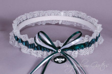 New York Jets Lace Wedding Garter