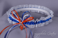 New York Mets Lace Wedding Garter