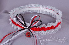 North Carolina State University Wolfpack Lace Wedding Garter