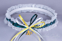 Oakland Athletics Lace Wedding Garter