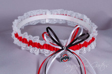 Ohio State University Buckeyes Lace Wedding Garter