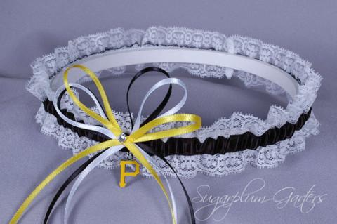 Pittsburgh Pirates Lace Wedding Garter