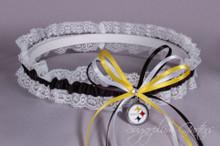 Pittsburgh Steelers Lace Wedding Garter