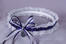 San Diego Padres Lace Wedding Garter