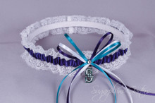 Seattle Mariners Lace Wedding Garter