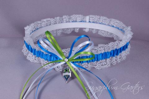 Seattle Sounders Lace Wedding Garter