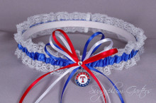 Texas Rangers Lace Wedding Garter