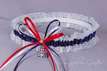 University of Arizona Wildcats Lace Wedding Garter