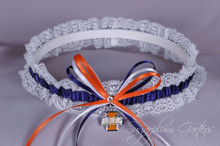 University of Illinois Fighting Illini Lace Wedding Garter