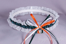 University of Miami Hurricanes Lace Wedding Garter