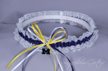University of Michigan Wolverines Lace Wedding Garter