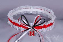 University of Nebraska Cornhuskers Lace Wedding Garter