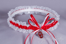 University of Oklahoma Sooners Lace Wedding Garter