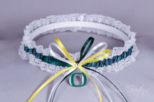 University of Oregon Ducks Lace Wedding Garter